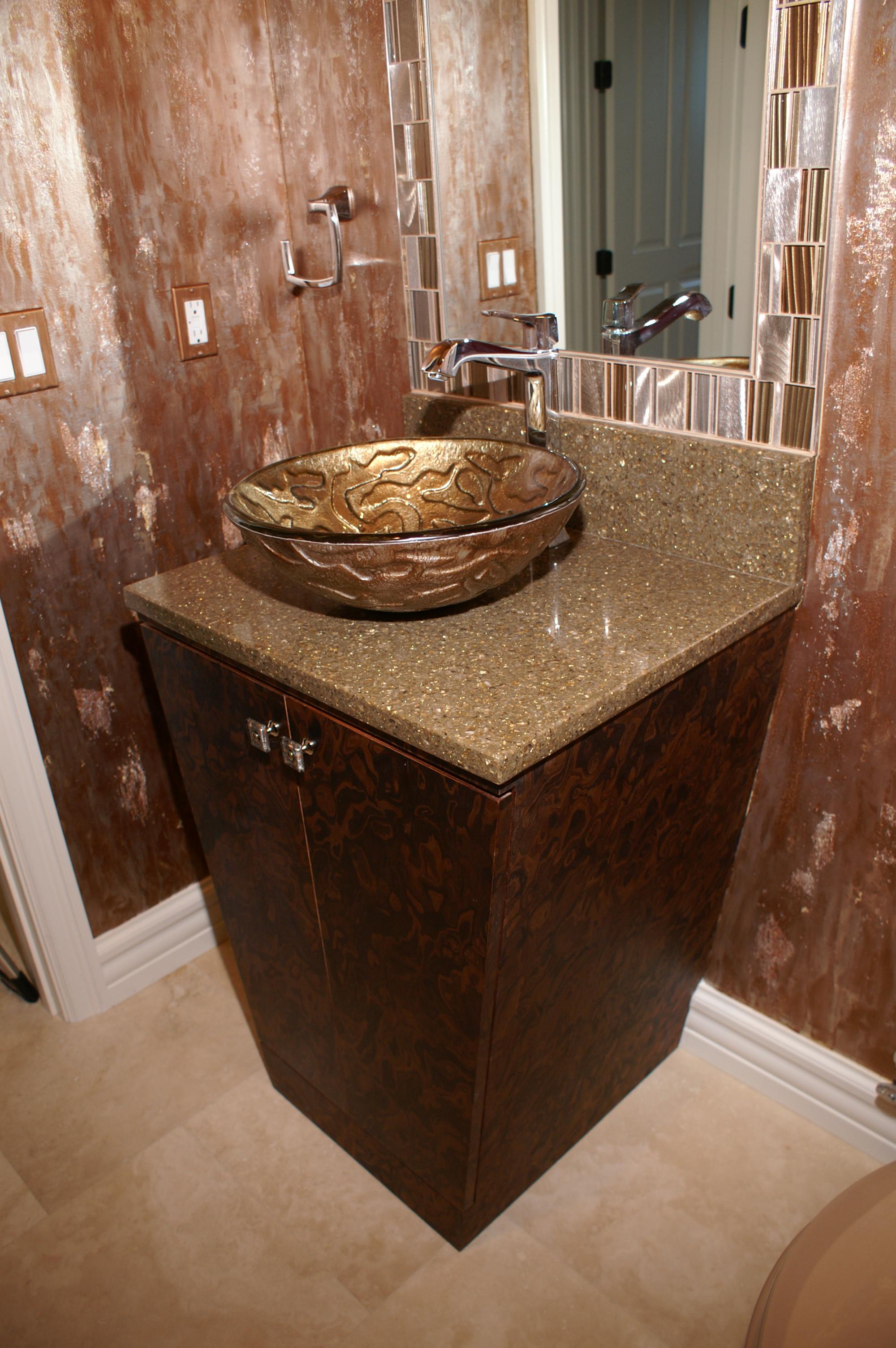 Contemporary Bathroom Design, Custom Cabinet