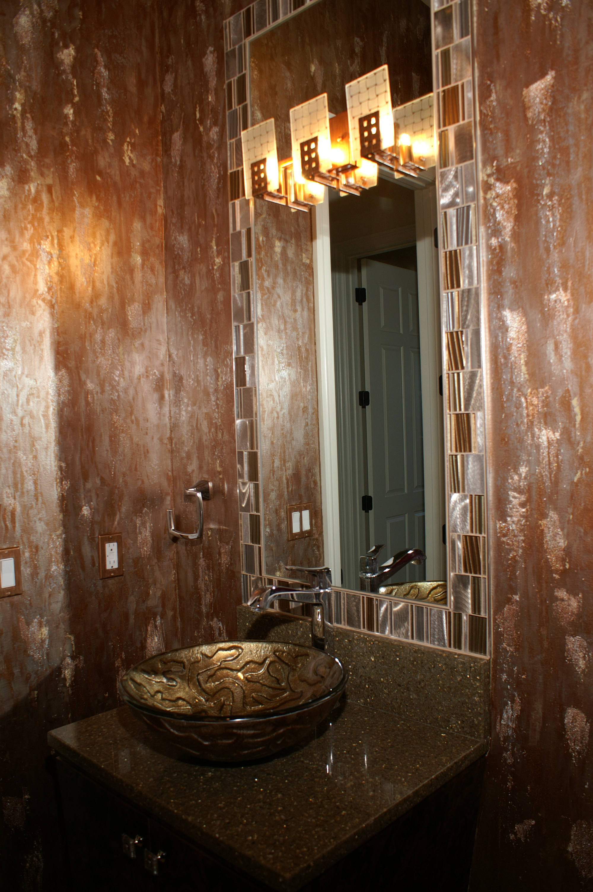 Contemporary Bathroom Design, Custom Bathroom Mirror