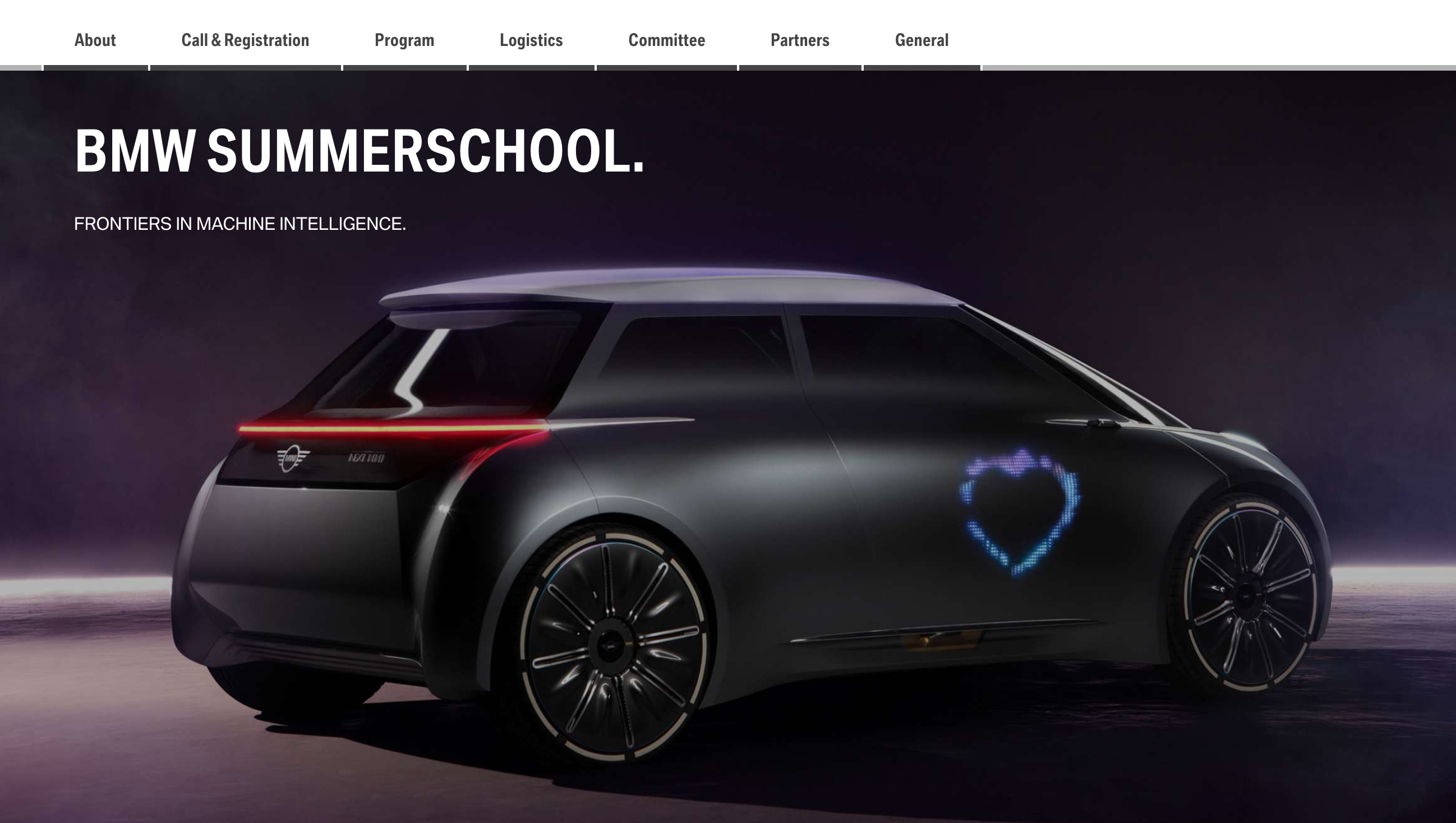 A portal designed to promote BMW's training services