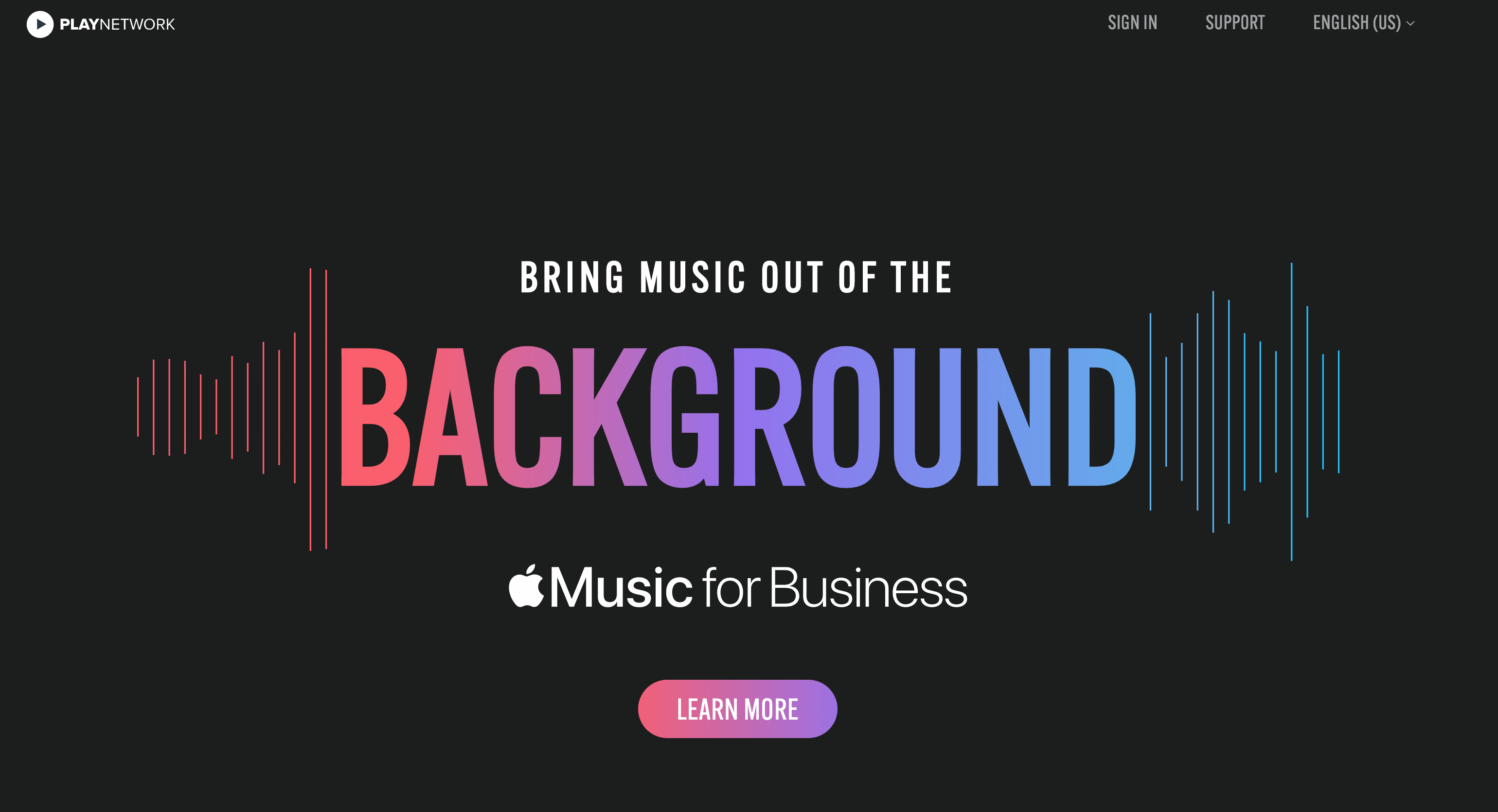 Going into the business market for Apple's music program