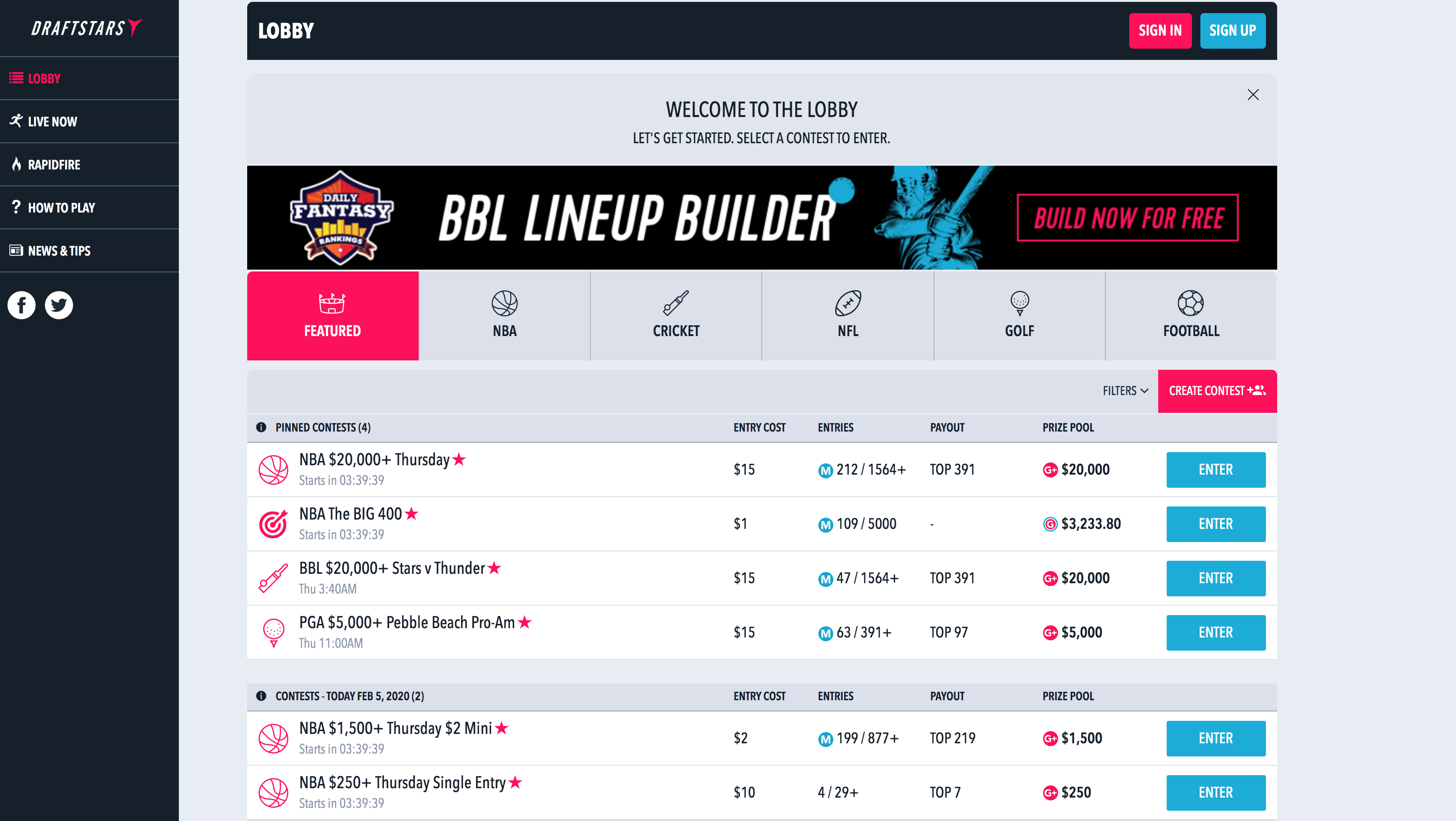 A redirect to the Australian Football League's third party fantasy sports provider