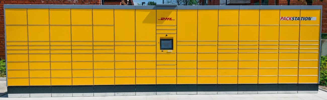 Picture of a DHL Pack Station collection lockers