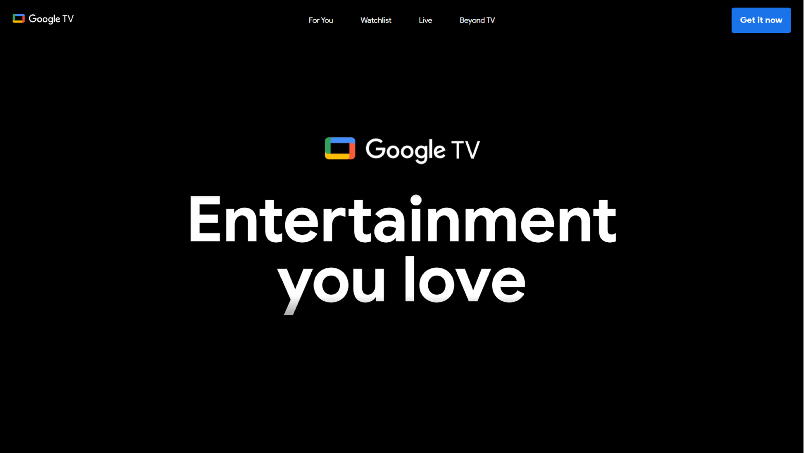 Google goes big with the launch of Google TV on a .brand