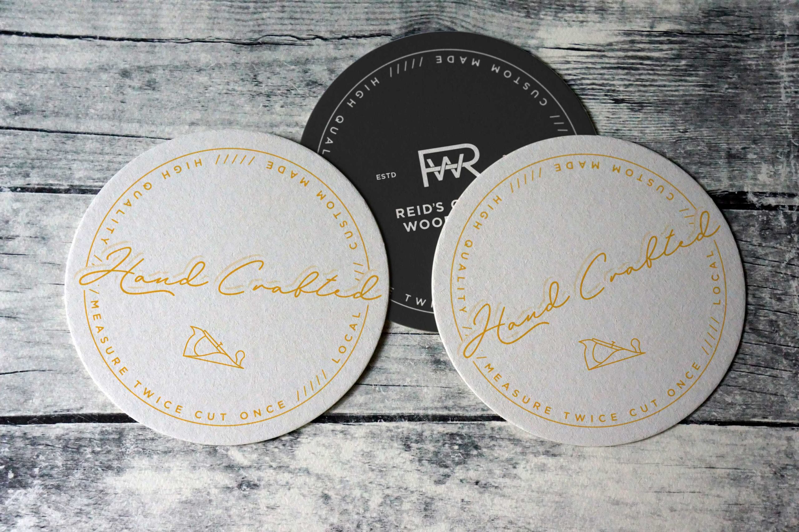 Coaster with Reids Custom Logo