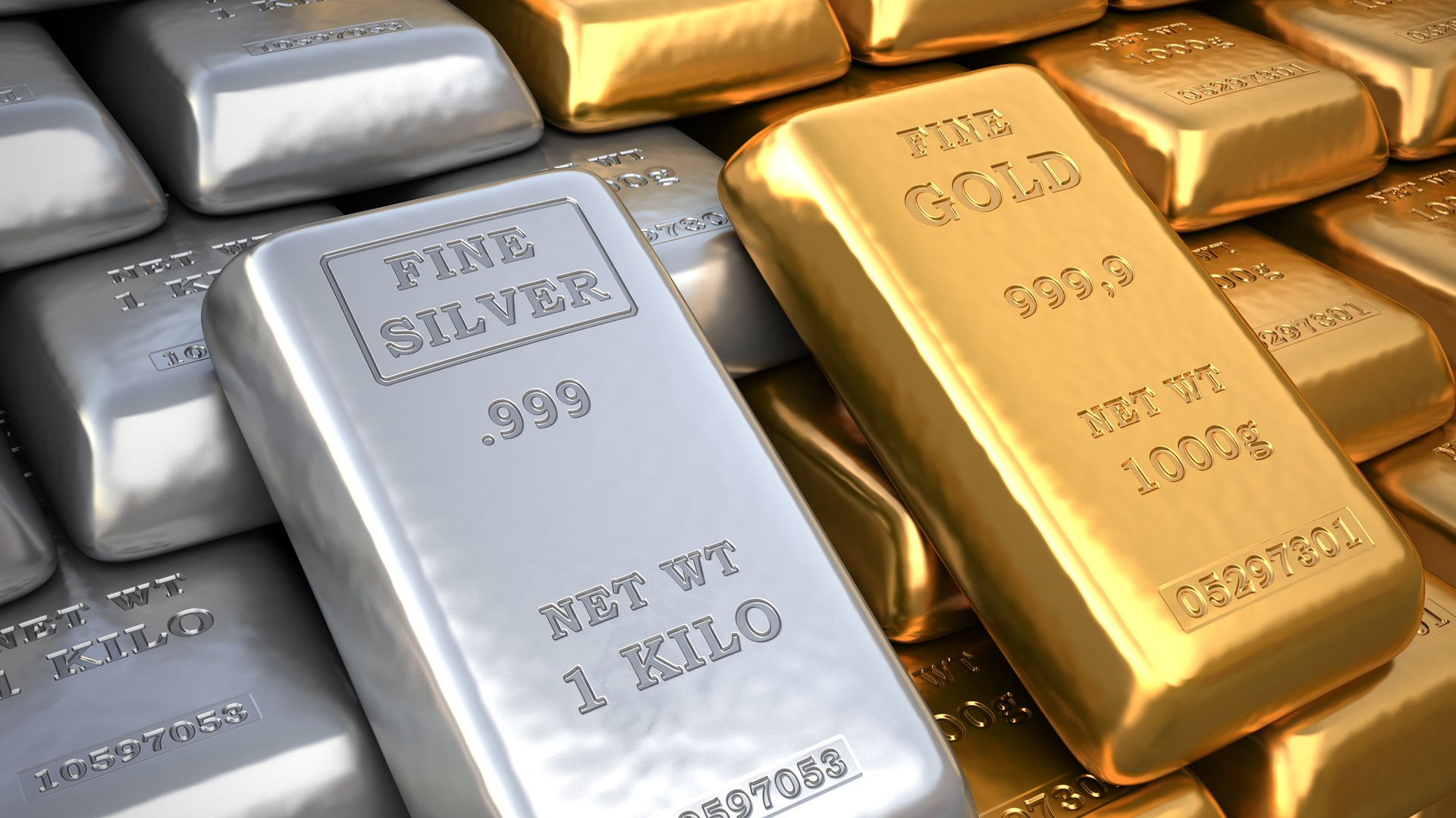 Silver and gold bars-foundation for economic...