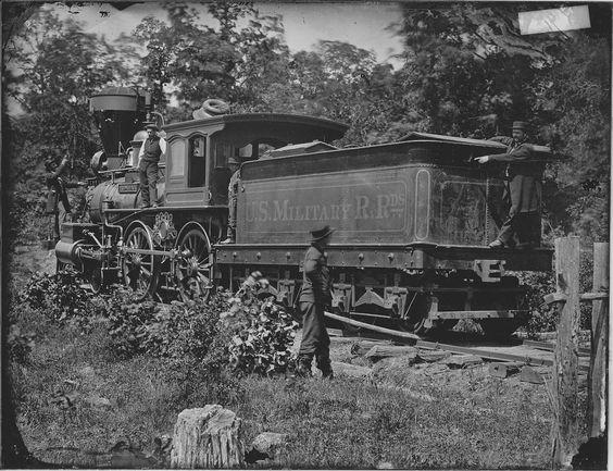 Vintage Civil War Federal Military Train 1862