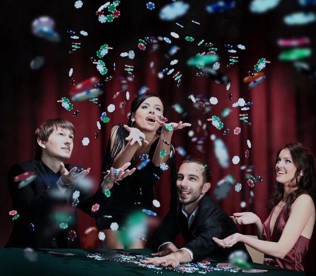 Young party people casino dreamstime_l_1086754