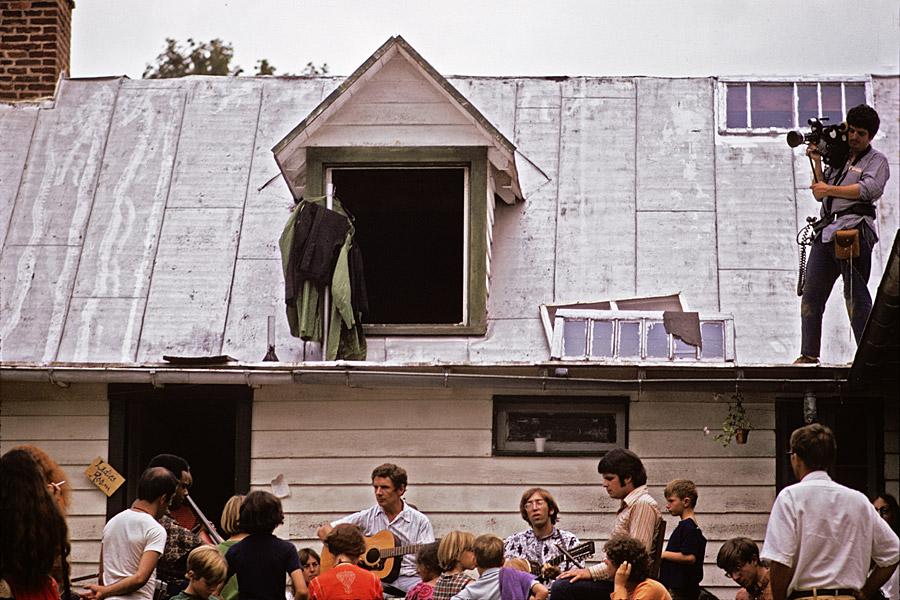 The True Brethren performing at Skymont, Virginia August 1970