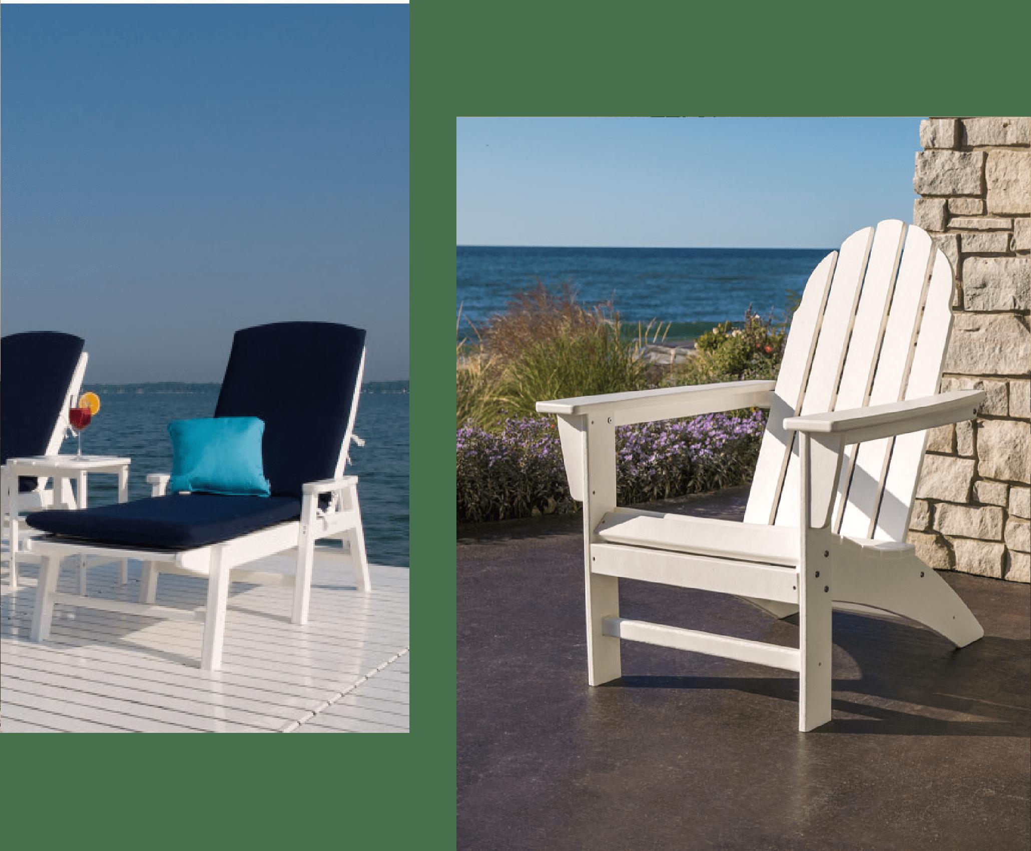 Polywood Nautical Chaise