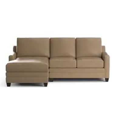 Carolina Leather Thin Track Arm L Chaise Sectional at Surfside Casual Furniture