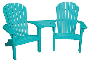 Casual Comfort Adirondack Settee with Slide in Table