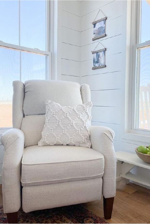 England Furniture White Slipcovered Chair
