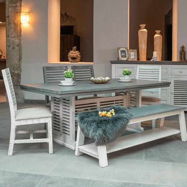 IDF Stone Rectangular Dining Set