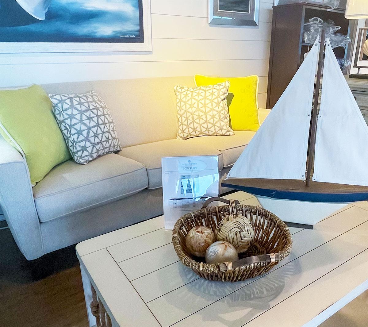 Flexsteel Blue Sofa Surfside Casual Furniture