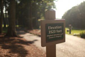 Devils Knob Elevation sign