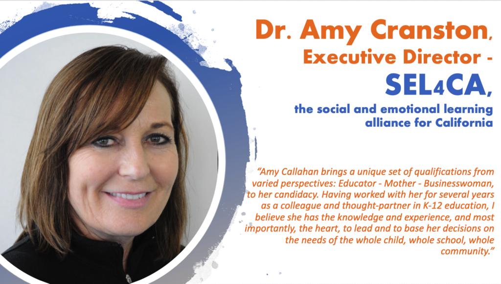 Dr. Amy Cranston, Executive Director -SEL4CA