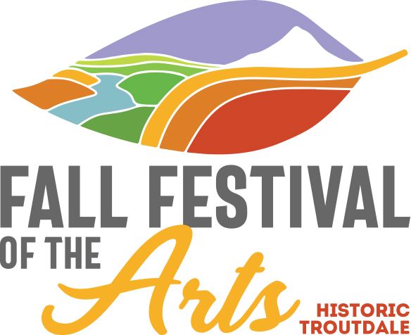 logo for Fall Festival of the Arts in Troutdale