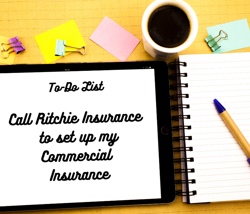 Notepad with Call Ritchie Insurance