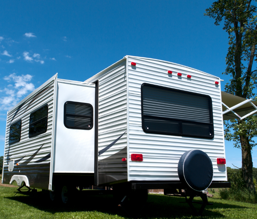 Recreational Vehicle on Grass