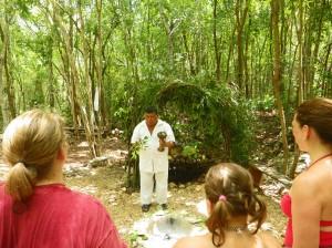 Shawna Coronado being blessed by a Mayan Shaman.