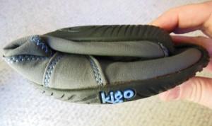 Kigo  Mary Jane shoe folded in half.