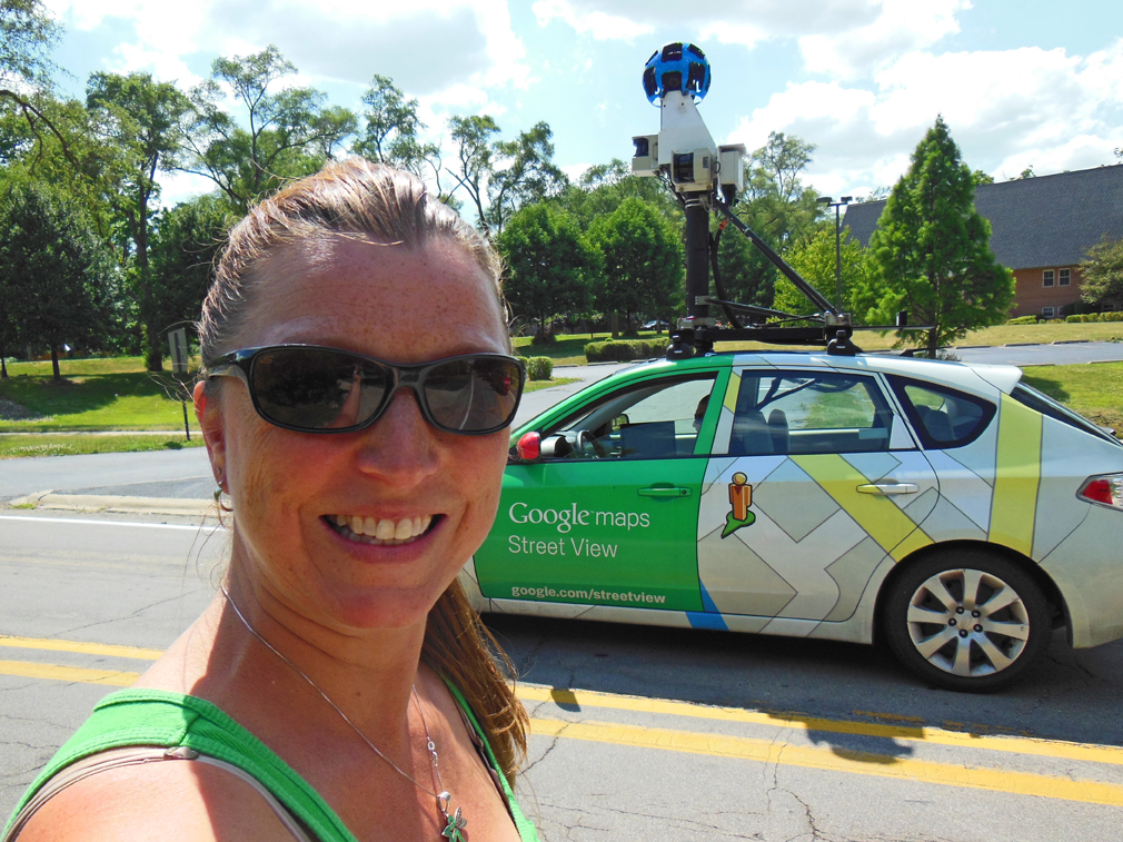 Best photos - Self-portrait with the Google maps streetview car