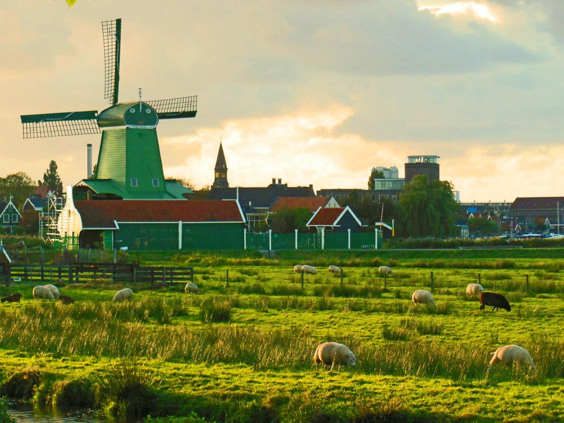 Best photos - Sunset in Holland - Travel Adventures