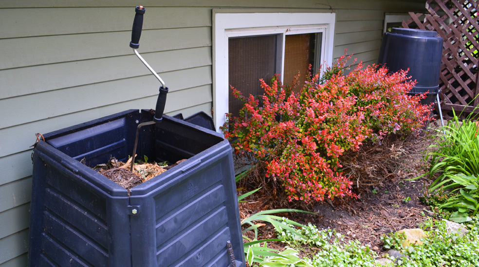 Compost Crank in Compost Bin