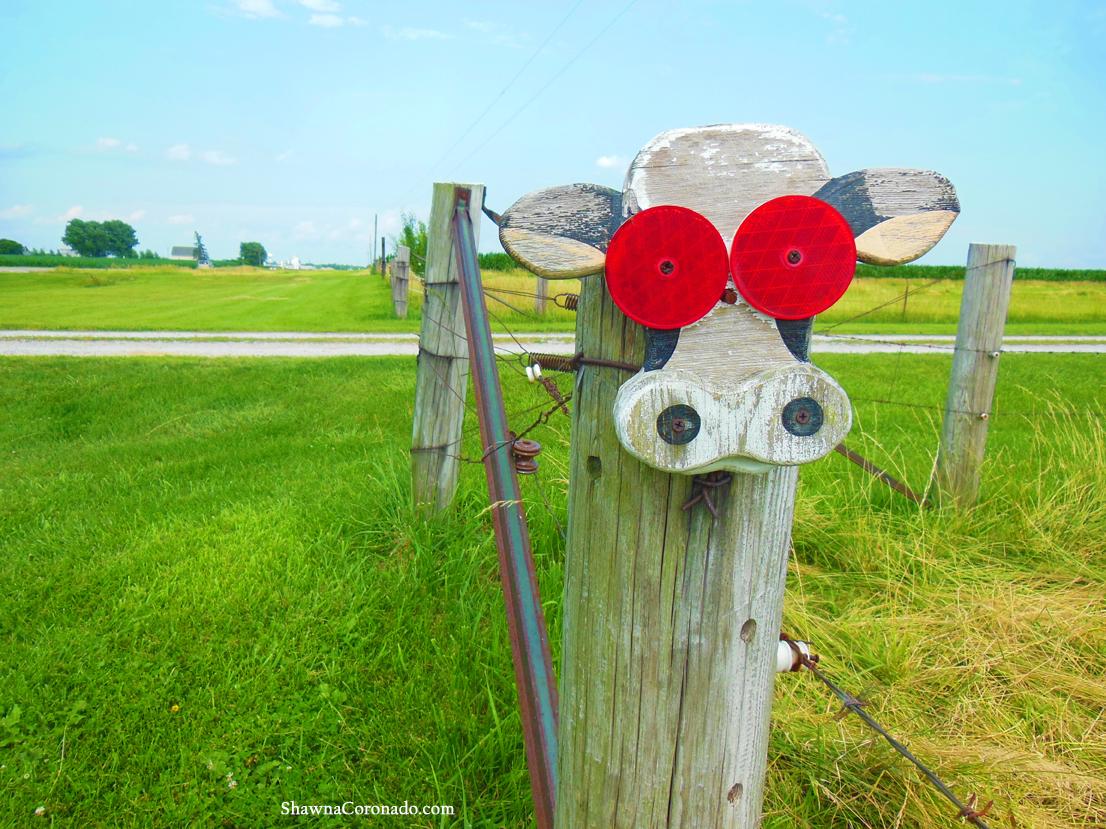 Moo Cow Reflector Fence