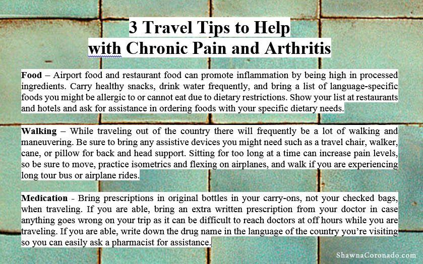 Travel Tips for Chronic Pain and Arthritis