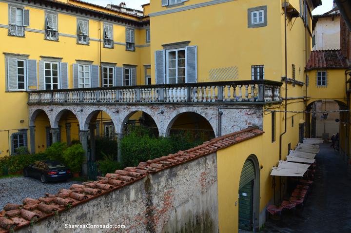 View at Via degli Angeli Lucca Italy