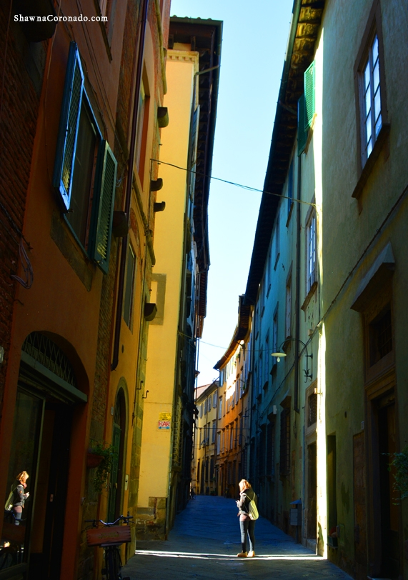 Lucca Italy Street Shadows