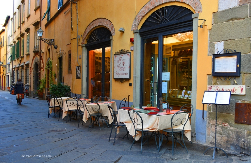 Lucca Italy Streets Cafe Restaurant