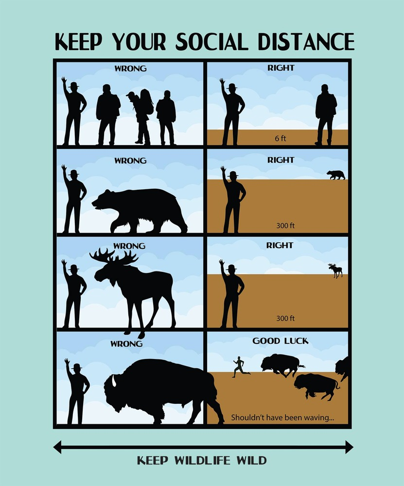 National Park COVID Distancing Poster