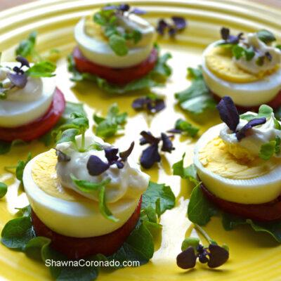 Egg Bites with Basil Microgreens Recipe