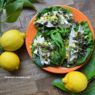 Lemony Chicken Lettuce Wrap Recipe