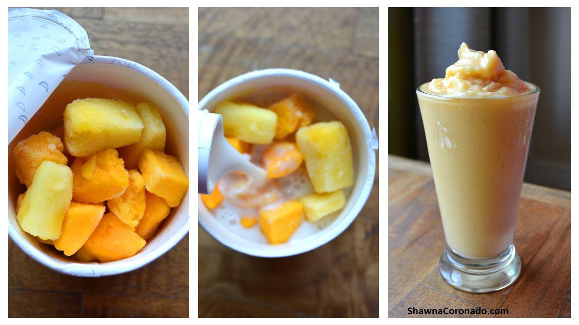 Daily Harvest Mango Papaya Smoothie Steps
