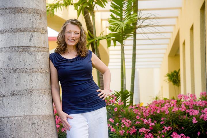 Shawna Coronado in a garden