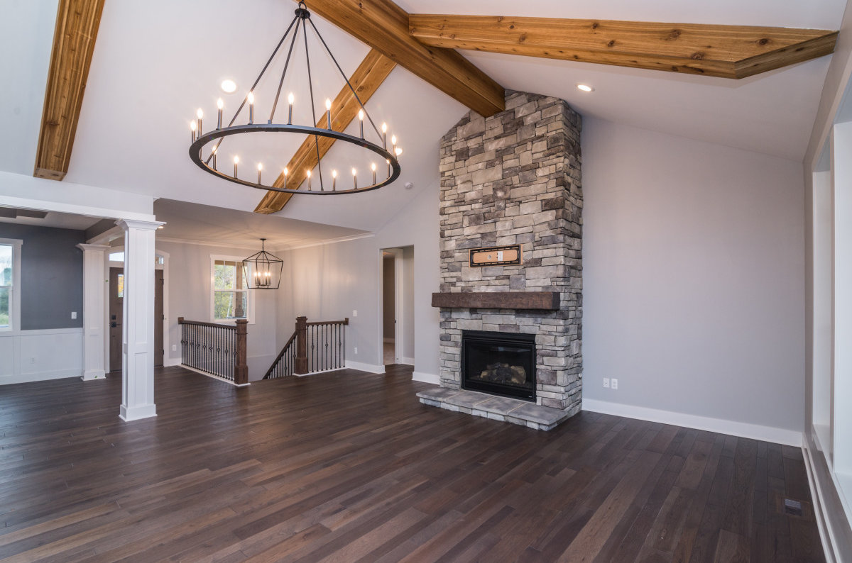 Walkout Custom Ranch with Finished Basement - Fireplace
