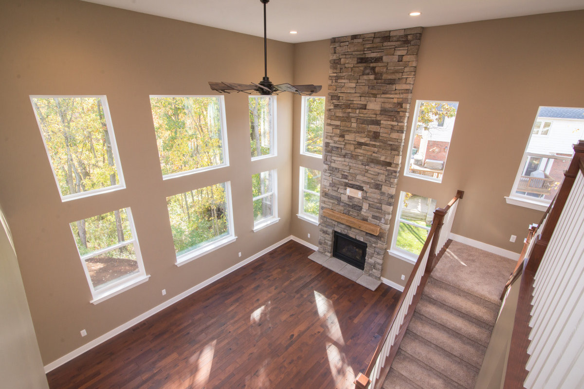Two Story Custom Craftsman - Second Story View of Living Room
