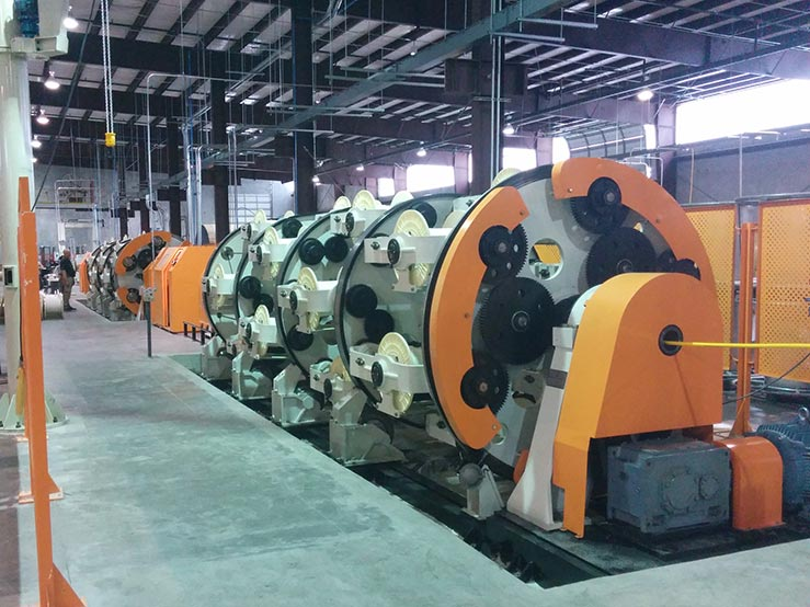 Umbilicals International's new 56 position dual purpose planetary cabling and armoring line