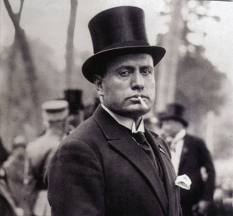 Mussolini with fag