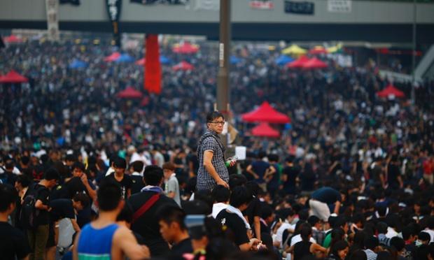 Hong Kong, the day before 1 October