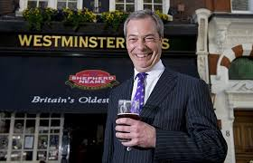 Farage with beer