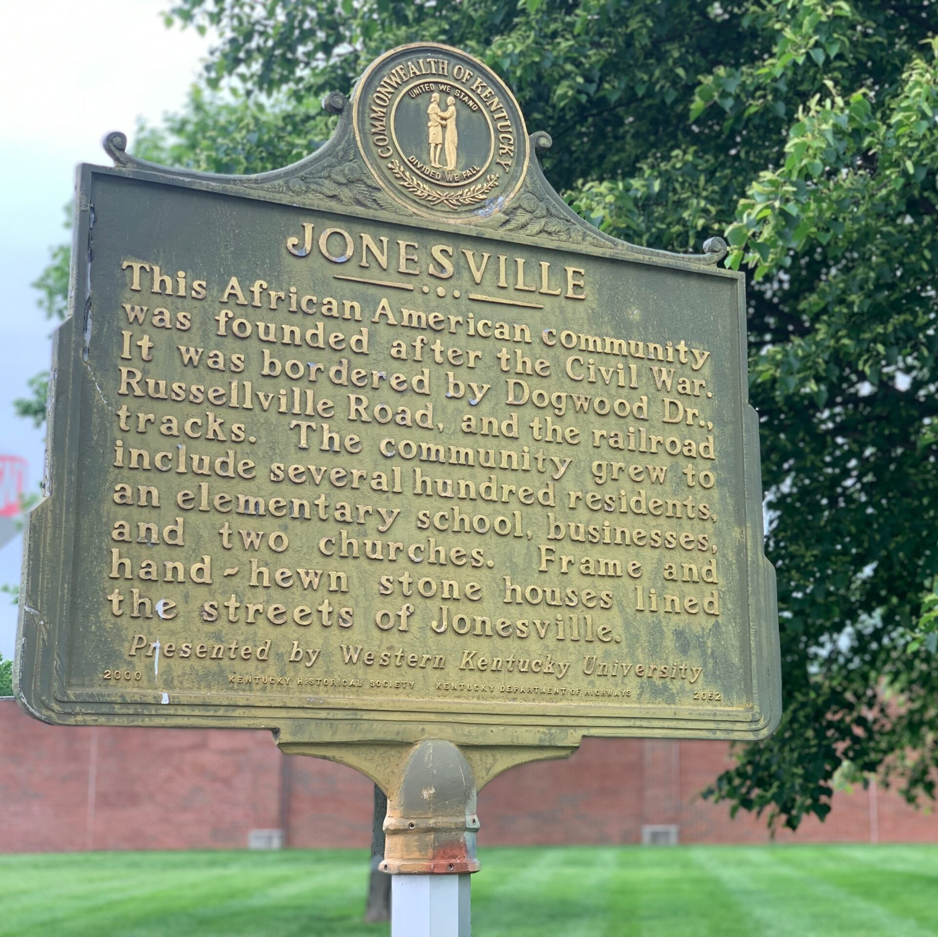Jonesville marker at WKU