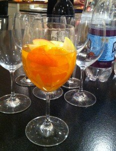 Same sangria, All dressed up for an indoor appearance.
