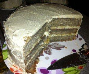 Double-banana- cake-served