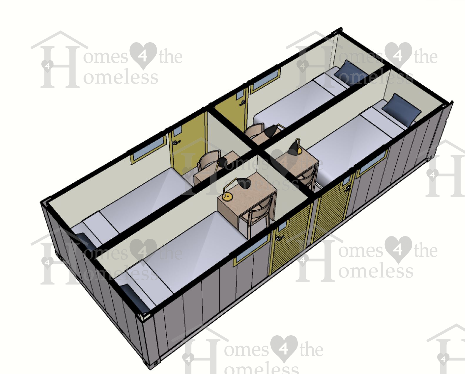 Type 1 four bedroom tiny home 4 homeless-0001