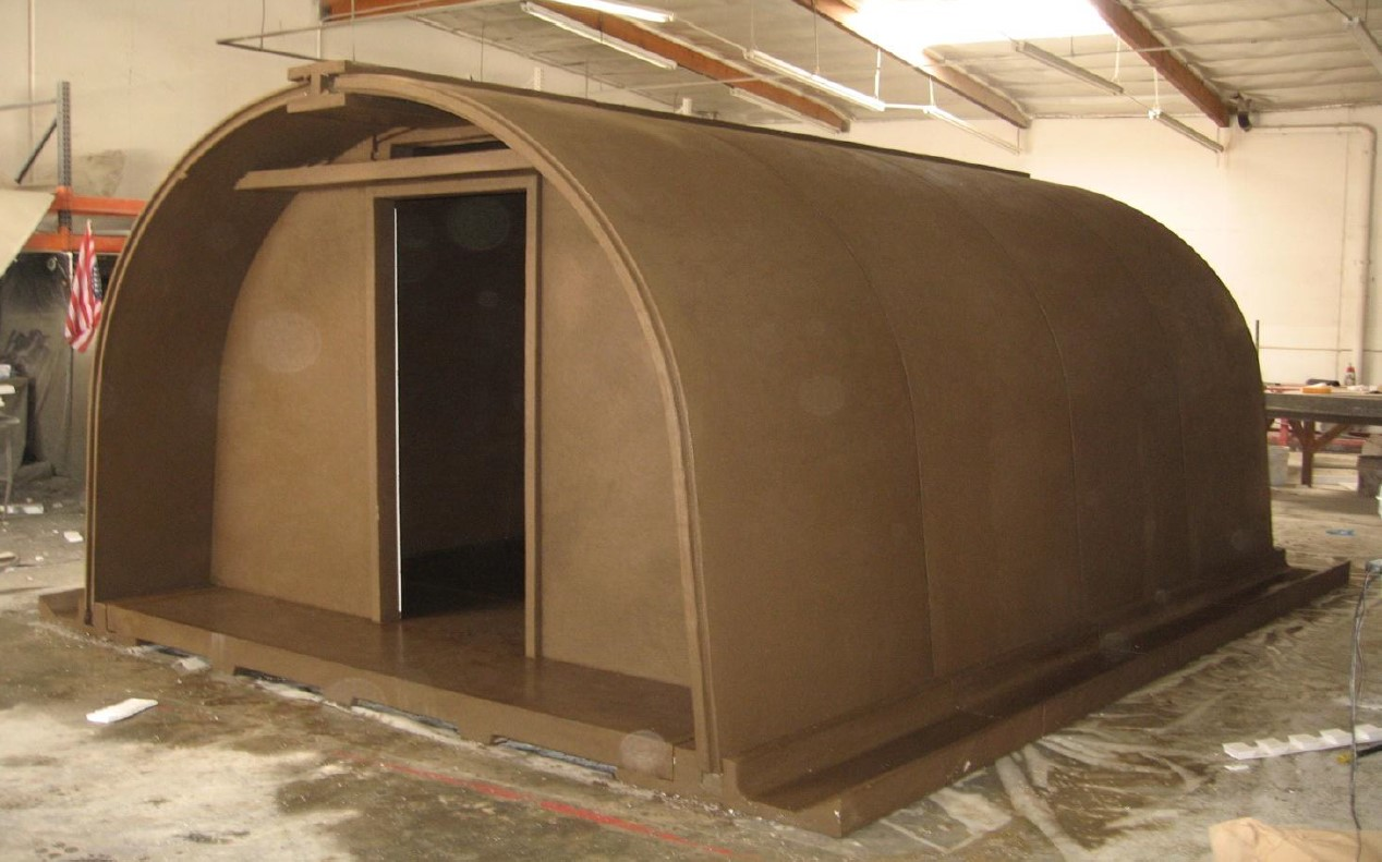 Quonset style shelter using MATS composite materials