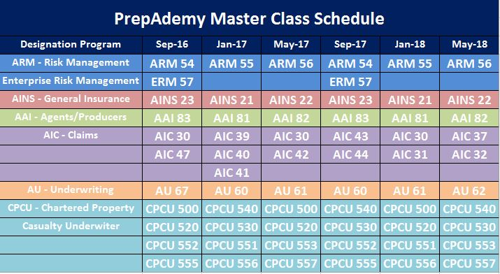 Master Schedule Graphic Sept 2016 - May 2018